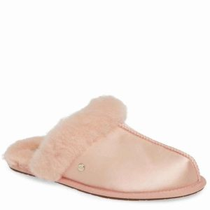 Authentic UGG scuffette 2 satin suntan slippers